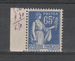 FRANCE / 1937 / Y&T N° 365 ** : Paix 65c X 1 BdF G - Ongebruikt