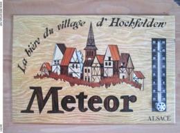 Enseigne Biere Meteor Avec Thermometre - Uithangborden