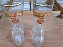 2 Verres Style Bottes . Herkules Export - Verres