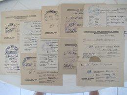 WW2 LORIENT 11 Correspondances Prisonnier Guerre Allemand Aumonier Déminage POW Kriegsgefangenen Censure - Documents