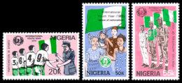 Nigeria, 1985, International Youth Year, UNICEF, United Nations, MNH, Michel 454-456 - Nigeria (1961-...)