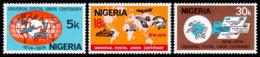 Nigeria, 1974, UPU Centenary, United Nations, MNH, Michel 304-306 - Nigeria (1961-...)
