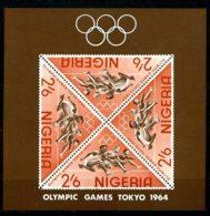 Nigeria, 1964, Olympic Summer Games Tokyo, Sports, MNH, Michel Block 4 - Nigeria (1961-...)