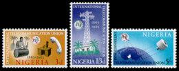 Nigeria, 1965, ITU Centenary, International Telecommunication Union, United Nations, MNH, Michel 166-168 - Nigeria (1961-...)