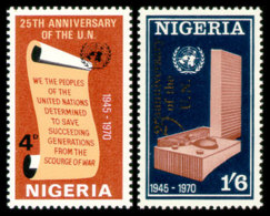Nigeria, 1970, 25th Anniversary Of The United Nations, MNH, Michel 235-236 - Nigeria (1961-...)