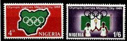 Nigeria, 1968, Olympic Summer Games Mexico, Sports, MNH, Michel 216-217 - Nigeria (1961-...)