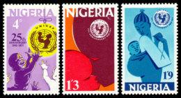 Nigeria, 1971, UNICEF 25th Anniversary, United Nations, MNH, Michel 252-254 - Nigeria (1961-...)