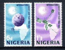 Nigeria, 1965, International Quiet Sun Year, Space, United Nations, MNH, Michel 164-165 - Nigeria (1961-...)