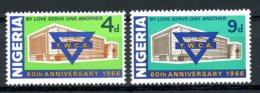 Nigeria, 1966, YWCA, Christian Welfare, MNH, Michel 190-191 - Nigeria (1961-...)