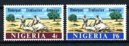 Nigeria, 1967, Fight Against Rinderpest Virus, Cattle, MNH, Michel 208-209 - Nigeria (1961-...)