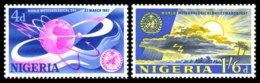 Nigeria, 1967, World Meteorological Day, WMO, United Nations, MNH, Michel 203-204 - Nigeria (1961-...)