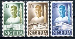 Nigeria, 1963, President Azikiwe, Republic Day, MNH, Michel 141-143 - Nigeria (1961-...)