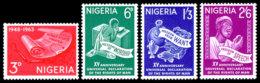Nigeria, 1963, Human Rights Declaration, United Nations, MNH, Michel 144-147 - Nigeria (1961-...)
