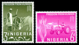Nigeria, 1963, Freedom From Hunger Campaign, FAO, Food And Agriculture Organization, United Nations, MNH, Michel 132-133 - Nigeria (1961-...)