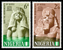 Nigeria, 1964, Save Nubian Monuments, UNESCO, United Nations, MNH, Michel 148-149 - Nigeria (1961-...)