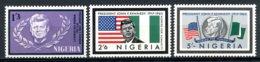 Nigeria, 1964, JFK, President John F Kennedy, MNH, Michel 150-152 - Nigeria (1961-...)