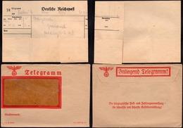 Germany 1938, NS Jnliegend Telegramm Brief (XC 187 B Din C6), 1938. - Duitsland