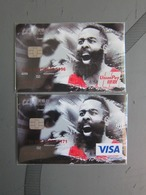 VISA And Unionpay Platinum Card, NBA Basketball Star- Harden, Two Cards, Invalided - Krediet Kaarten (vervaldatum Min. 10 Jaar)