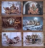 Lot De 6 Cartes Postales  / Carrosses , Marstallmuseum Schlitten - Other
