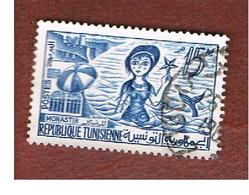 TUNISIA - SG 488  -    1959  MONASTIR & SIREN       - USED ° - Tunisia (1956-...)