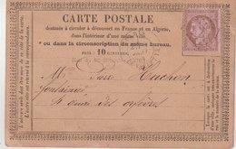 FRANCE : CARTE PRECURSEUR. ANNONCE 1145 . THOREL , BELLE JARDINIERE ( ILLUSTRE ) MAISON ANTHOINE . AB . 1874 . - 1701-1800: Precursori XVIII