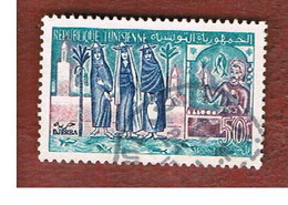 TUNISIA - SG 496  -    1959  DJERBA      - USED ° - Tunisia (1956-...)