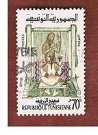 TUNISIA - SG 498  -    1959  CARPET WEAVER      - USED ° - Tunisia (1956-...)