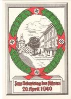 Propaganda Karte, Geburtstag Des FÜHRERS 1940, Stempel WIEN - Weltkrieg 1939-45