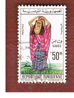 TUNISIA - SG 569  -    1962  REGIONAL COSTUMES: GABES      - USED ° - Tunisia (1956-...)