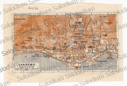 SAN REMO   - Mappa Cartina - Mappe