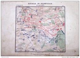 CARTE HISTORIQUE MILITAIRE - 2éme EMPIRE - BATAILLE DE REZONVILLE Le 16 AOUT 1870 - Cartes