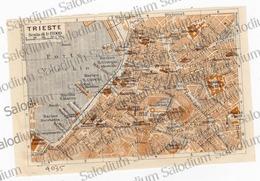 TRIESTE - Mappa Cartina - Mappe