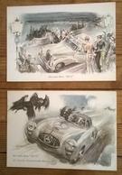Lot De 2 Cartes Postales  / MERCEDES - Passenger Cars