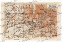 MERANO - Mappa Cartina - Mappe