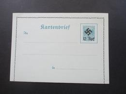 Österreich 1938 Nicht Zur Ausgabe Gelangter Kartenbrief K I Mit Hakenkreuz überdruckt 12 Rpf Auf 24 Groschen - Entiers Postaux