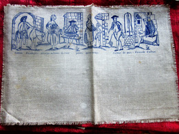Vintage Old Linen Canvas To Embroider With An Example Of Embroidery Of France See The Scanners Creative Hobbies - Loisirs Créatifs