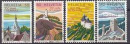 HELVETIA - SUISSE - SVIZZERA - 1987 - Serie Completa Usata Composta Da 4 Valori: Yvert 1280/1283. - Usati