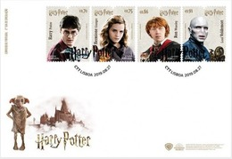 PORTUGAL 2019 HARRY POTTER SET 4 STAMPS FDC - FDC