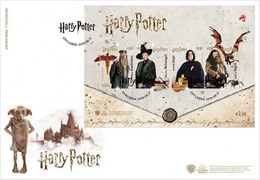 PORTUGAL 2019 HARRY POTTER MINISHEET OF 4  STAMPS FDC - FDC