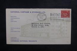 CANADA - Enveloppe Commerciale De Winnipeg Pour Toronto En 1934, Affranchissement Plaisant - L 41828 - 1911-1935 Règne De George V