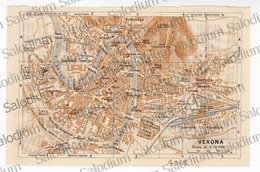 VERONA - Mappa Cartina - Mappe