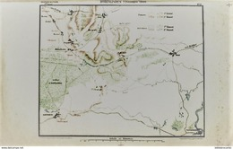 CARTE HISTORIQUE MILITAIRE - BATAILLE DE HOHENLINDEN LE 2 DECEMBRE 1800 Gagnée Par Le GENERAL MOREAU - Cartes