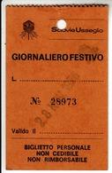 SCI SKI SCIOVIE USSEGLIO VALLI DI LANZO - TESSERA BIGLIETTO TICKET GIORNALIERO 1976 - Titres De Transport
