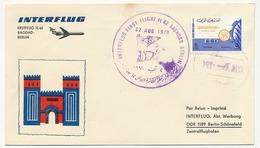 IRAK - Enveloppe Premier Vol BAGDAD / BERLIN Par INTERFLUG IL 62 - 02/8/1970 - Iraq