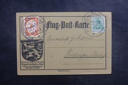 ALLEMAGNE - Carte Du Meeting Aérien De Frankfurt En 1912, Oblitération Et Vignette Plaisants - L 41833 - Germany