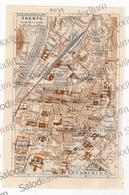 TRENTO - Mappa Cartina - Mappe