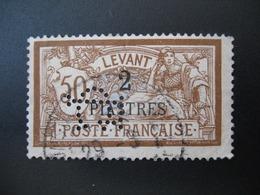 Perforé  Perfin  Levant ,   Perforation :   CL   à Voir - Levant (1885-1946)