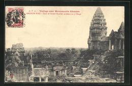AK Angkor-Wat, Cour Et Grand Escalier Accedant Au 3e Etage - Non Classés