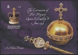 Alderney MiNr. Bl. 13 O 50. Jahrestag Der Krönung Von Königin Elisabeth II - Alderney
