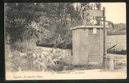 CPA Champlay, La Lavoir - France
